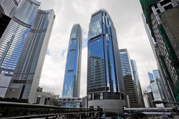 Finance Street, Central, Hong Kong Island, North of Hong Kong Island. Hong Kong, China, East Asia.
