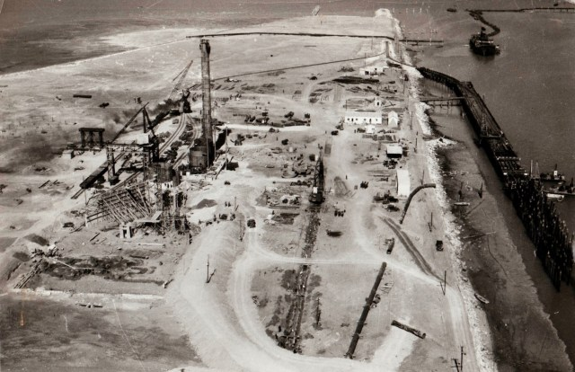 Construction of the blast furnace and associated wharf just before the second world war drew thousands of workers and later their families from the depressed Eyre Peninsula and the Mid North. Author provided