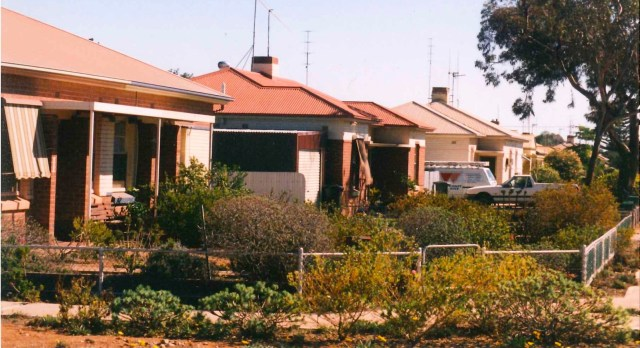 Houses in the same area of Whyalla South 60 years later show how Murray water helped 'green' the city. What will happen as the wartime housing stock ages is a pressing question. Peter Stanley, Author provided