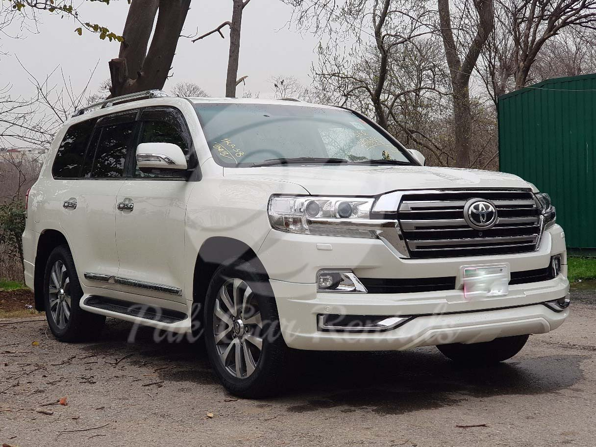 Rent Land Cruiser ZX V8 2019 in Islamad Lahore Faisalabad