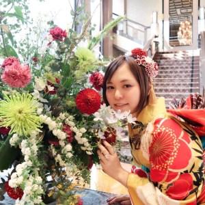 【成人式/参列/振袖レンタル】華やかカワイイ◆からし大輪梅