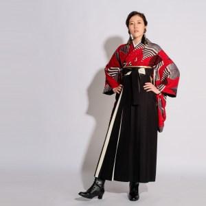 【卒業袴】魅惑のレトロガール☆浮遊/赤 モダンアンテナ