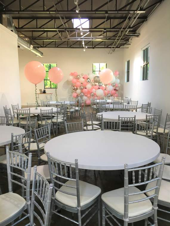 Silver Chiavari Chair Rentals and Banquet Table Rentalry.com