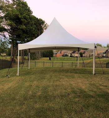 20 x 20 High Peak Tent Installation Hampton GA