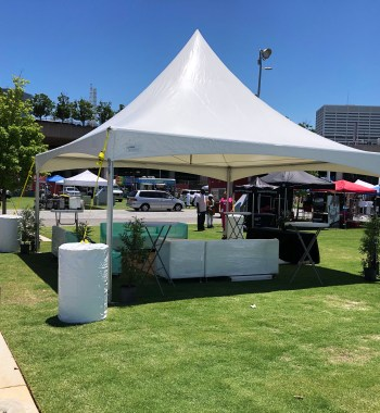 20x20 foot tent high peak Atlanta party Rental Rentalry