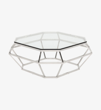 silver diamond coffee table rental