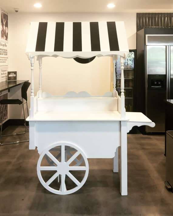 Black and White Canopy Candy Cart Rental Atlanta by Rentalry.com