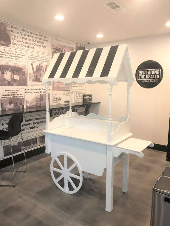 Candy Cart Black & White Canopy