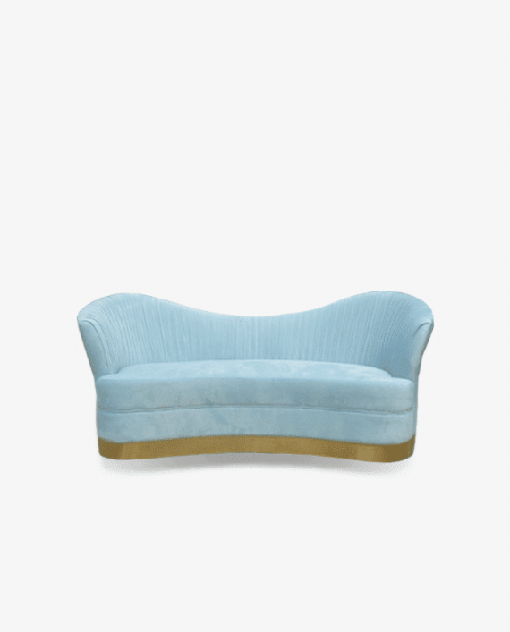 Azure Blue Luxury Baby Shower Sofa Rental