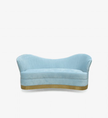 Azure Blue Luxury Baby Shower Sofa Rental