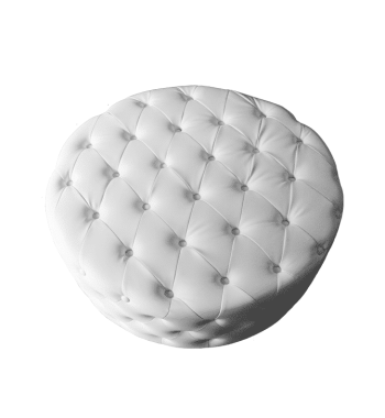 Diamond Tufted Ottoman Rentals VIP Section Party Rentals Marietta and Atlanta, GA
