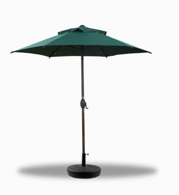 Dark Green Umbrella with Weight Base Option