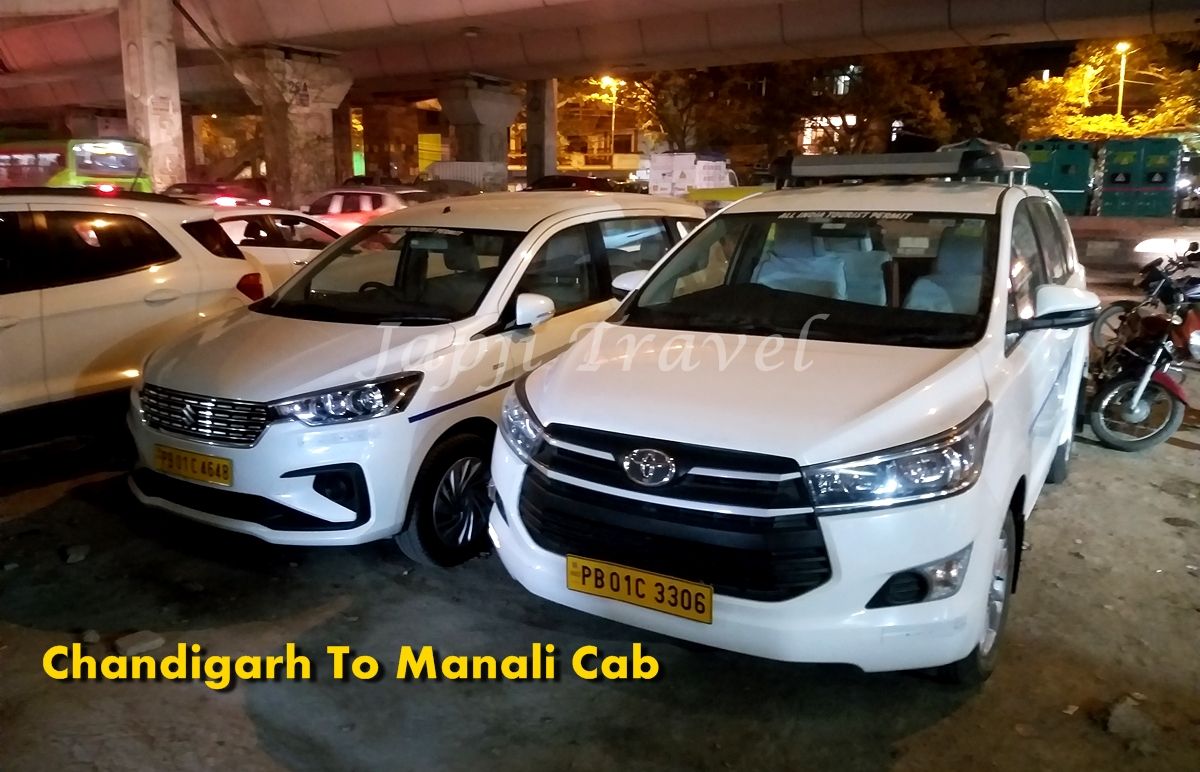 One Way Cab Service From Chandigarh to Manali
