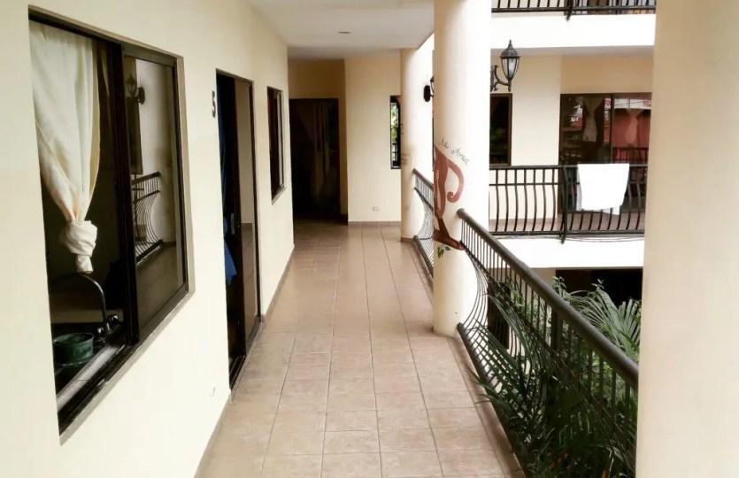 hotel walkway Jaco