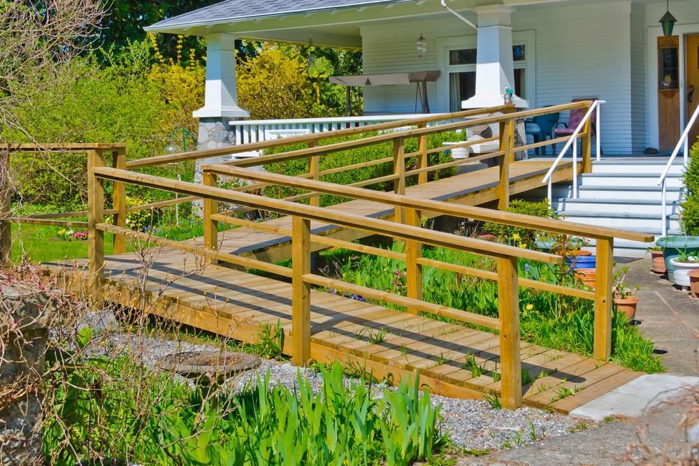 Best Home Modifications For Senior Citizens | Outside Steps For Seniors | Dreamstime | Stair Treads | Handrail | Stainless Steel | Walkway