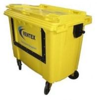 yellow trade waste bin
