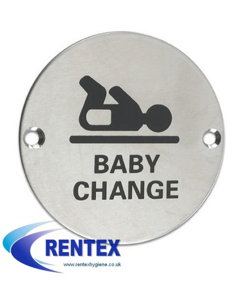 Baby Change Area Door Sign