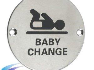Washroom Door Sign Baby Change