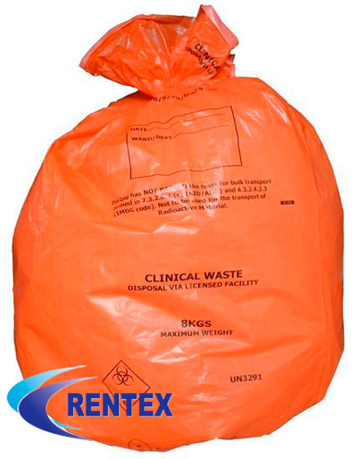 Orange Infection Control Bags