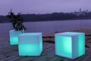 Led cube Furniture rent