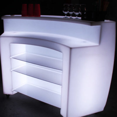 illuminated bar for events