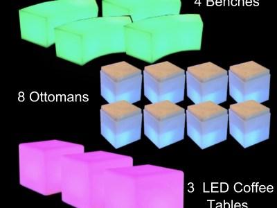 LED Furniture rental NYC