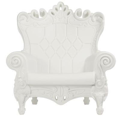 Baroque White Throne Chair rental