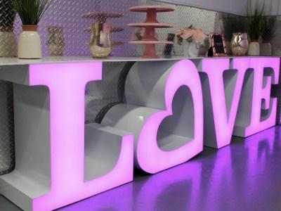 LED Letter Table rental