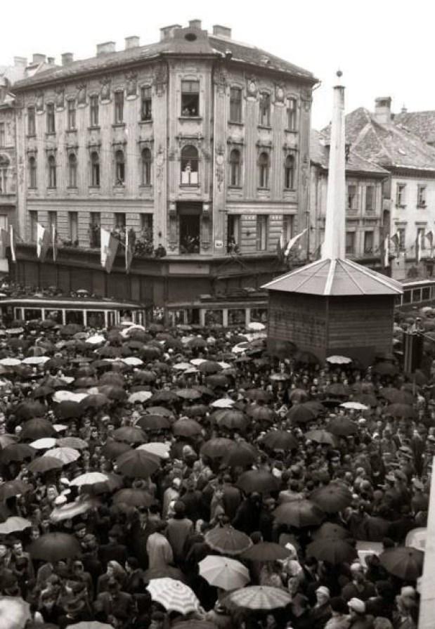 1958 - pogreb tramvaja (vozil od 1901)