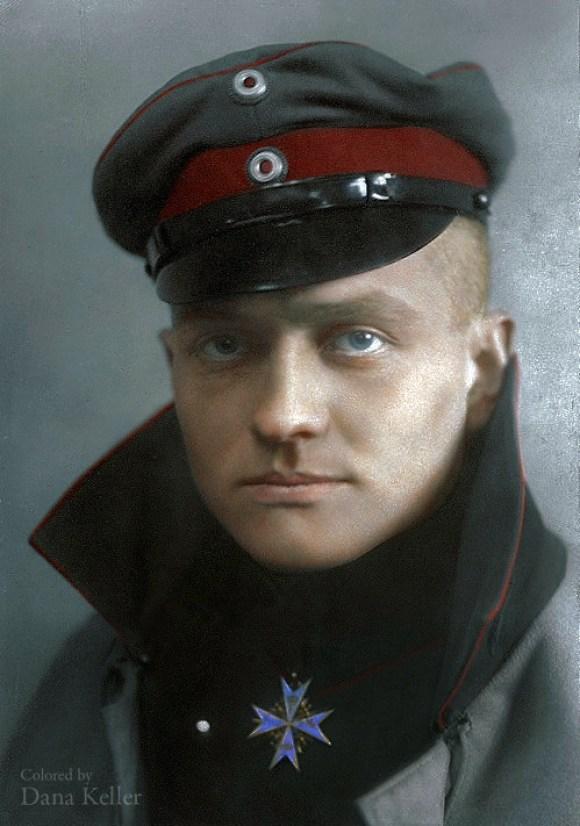 Manfred von Richthofen, bolj znan kot Rdeči Baron, cca 1917 (foto: klassixx/Reddit)