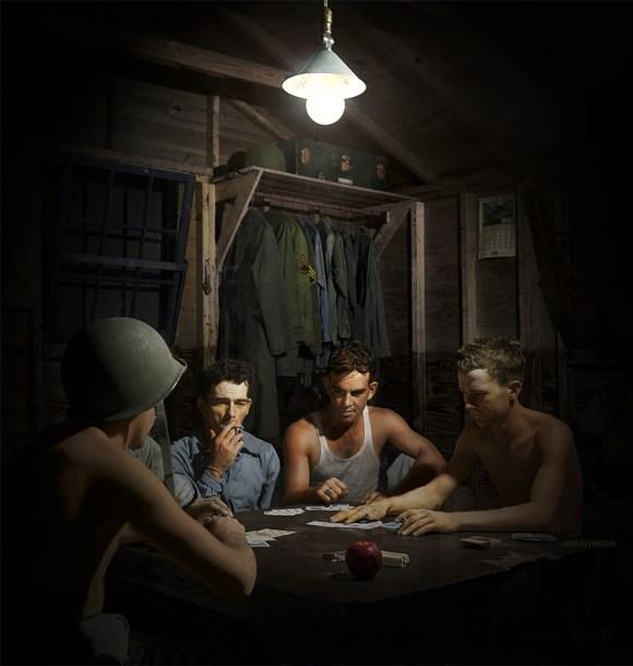 Vojaki kvartopirci, 1943 (foto: Shorpy)
