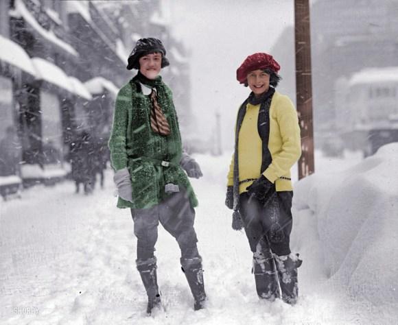 Močna nevihta v ameriški prestolnici, 28. januar 1922 (foto: Shorpy)