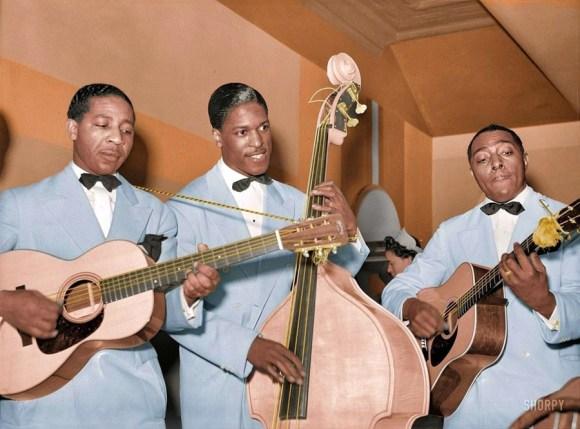 Pionirji jazz glasbe v južnem delu Chicaga, 1941 (foto: Shorpy)