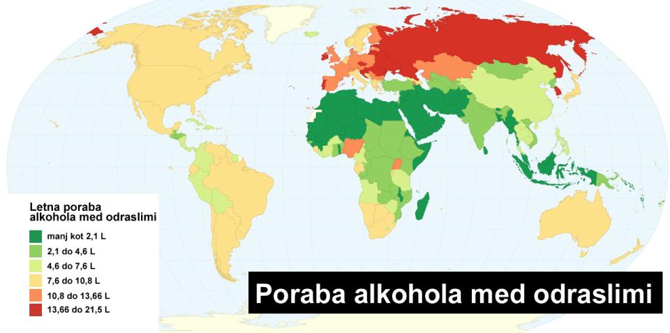 Poraba alkohola med odraslimi