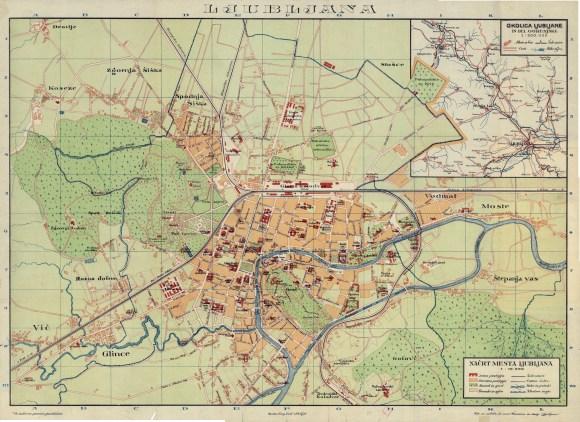 1924 - zemljevid Ljubljane