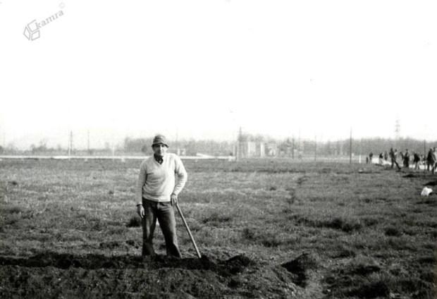 1983 - sajenje dreves ob Poti spominov in tovarištva za Bežigradom