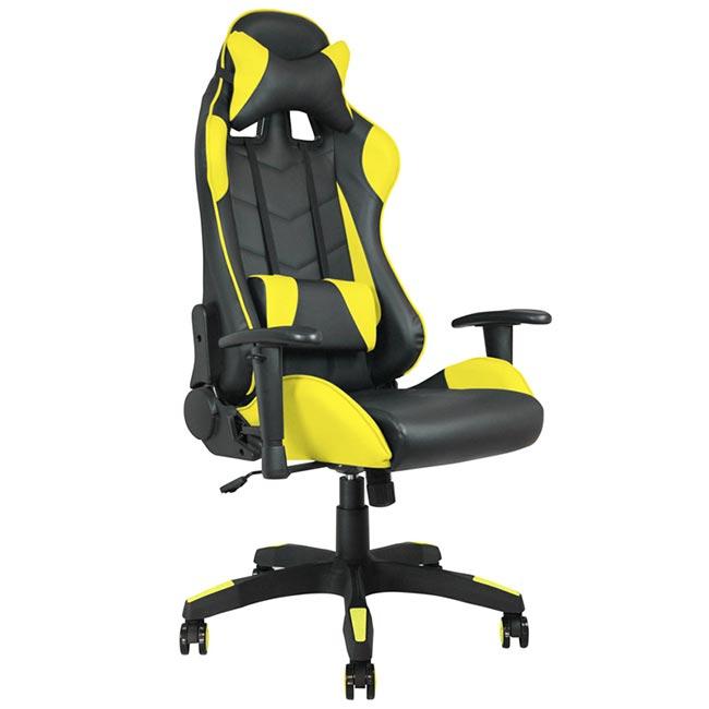 fauteuil de bureau gamer waytex racing noir et jaune