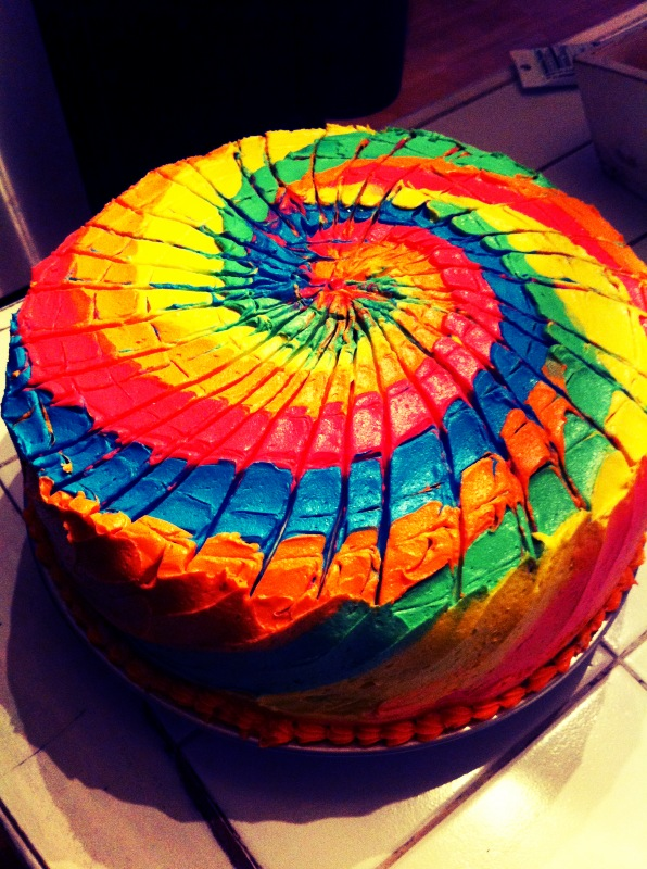 Strange Tie Dye Cake Personalised Birthday Cards Petedlily Jamesorg