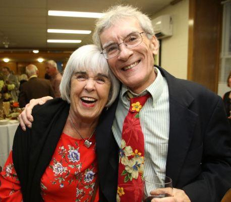 Joan Gill and Wisdom Award recipient Billy Neller, both of Litchfield. John McKenna Photo