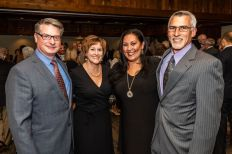 From left, Doctors Ray and Karen Winicki of Middlebury stand with Jacqueline and Joe Pasqualucci of Woodbury, during the Seeds of Hope for Haiti Dinner & Gala at the Heritage Hotel and Resort in Southbury on Friday. Bill Shettle Republican-American
