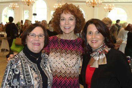 From left, Ginny OþÄôRourke of Wolcott, Donna Palomba of Woodbury and Lynn Ward President & CEO of the Waterbury Regional Chamber attend the Waterbury Chamber annual Business Women's Forum in Southington Tuesday. Steven Valenti Republican-American