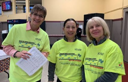 Event staff included, from left, Susan Maysada, Natalie Lawlor, and Barbara Nieves