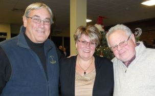 From left, Larry Cassella, Connie Wright of LARC and her husband, Larry Wright