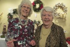 Faith Schacht and Maura Wolf at the Noble Horizons Festival of Trees Gala which was held on Dec. 7 in Salisbury. The event, which features hors d'oeuvres, drinks, a silent auction and raffle, is sponsored by the Noble Horizons Auxiliary. Proceeds go toward special purchases for residents. Ruth Epstein Republican-American