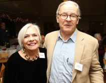 Litchfield Jazz Festival founder Vita Muir of Litchfield and Michael Fiederowicz of Washington, Conn. John McKenna Photo