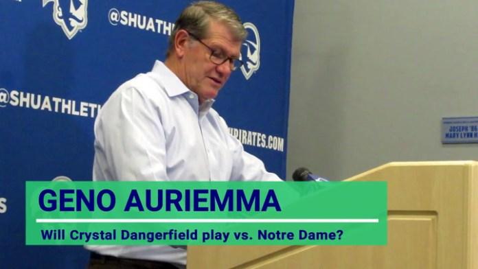 UConn coach Auriemma: On Crystal Dangerfield's health