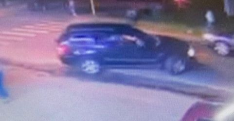 WATERBURY - Police are searching for the driver of the black 2007 Jeep shown here who police say ran down a 31-year-old woman early Saturday morning. Photo contributed.