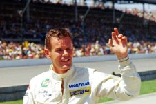 FILE - Auto racer Bobby Unser is shown at the Indianapolis 500 auto race in Indianapolis, Ind., in this May 30, 1971, file photo. Three-time Indianapolis 500 winner Bobby Unser has died. He died of natural causes at his home in Albuquerque, New Mexico, on Sunday, May 2, 2021. He was 87. (AP Photo/Chuck Robinson, File)
