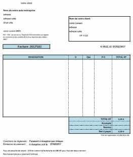 facture pour autoentreprise
