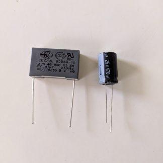 condensateurs senseo 470nf 470uf